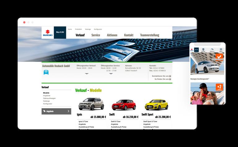 Suzuki Händler Webseiten
